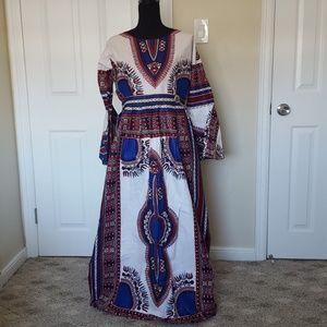 African Print Maxi Dress Handmade